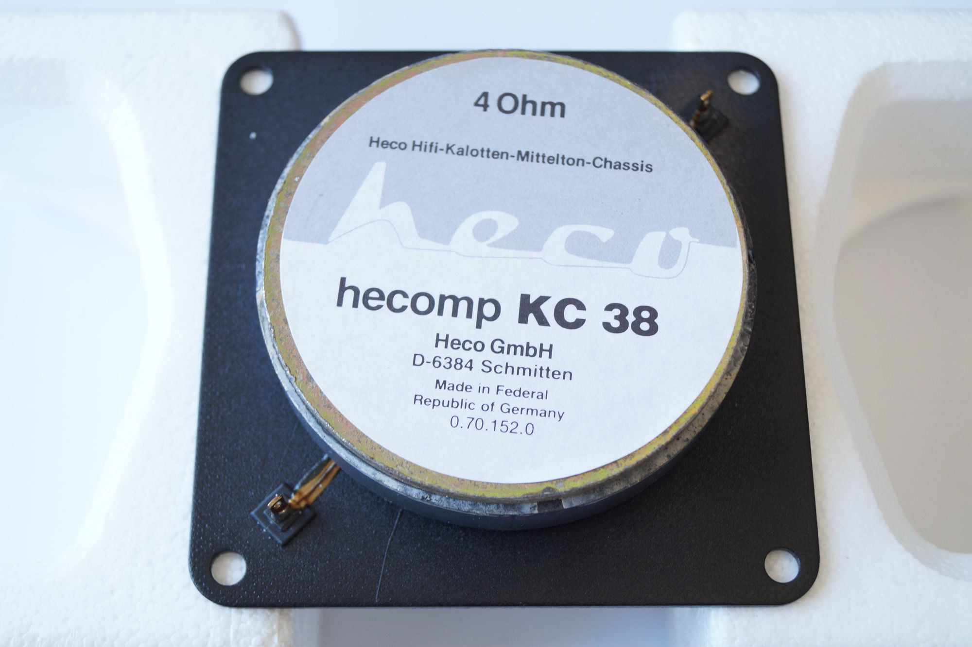 1 Stück 50 mm Hochton-Kalotte Heco hecomp KC 38  – Bild 4