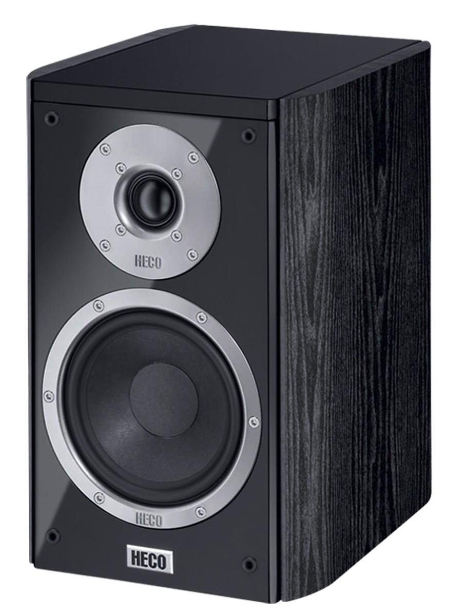 Heco Music Style 200, 2 Wege Bassreflex, schwarz, 140 Watt max. 1 Paar Neu-Ware – Bild 1