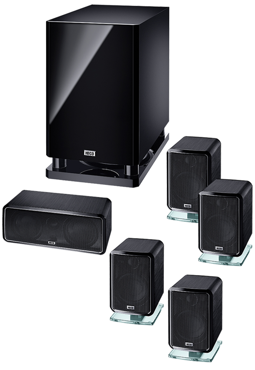 B Ware Heco Ambient 5.1 A, Heimkino-System mit Aktiv- Subwoofer 001
