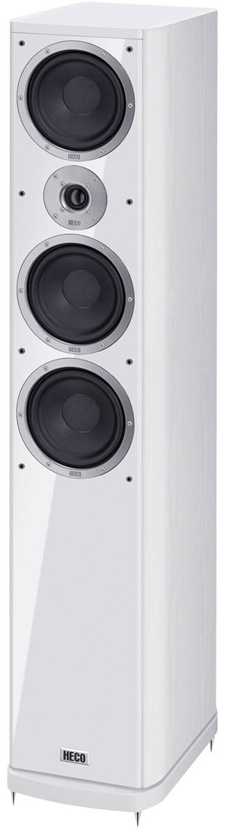 Heco Music Style 900, Standlautsprecher, 3 Wege Bassreflex mit Doppelpass, Farbe: weiss, 1 Stück Neu-Ware