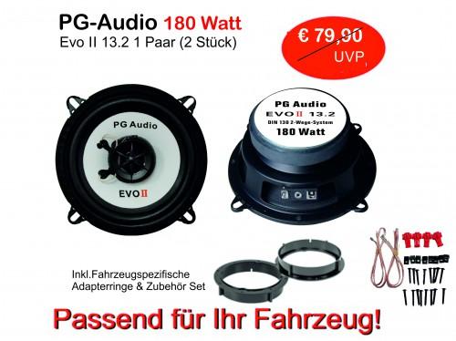 [Paket] 13cm Coax,2-Wege-Koax,Peugeot 306 XR/XT, Lautsprecher Vorne inkl. Adapterringe