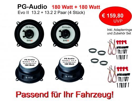 [Paket] 13cm Coax,2-Wege-Koax,Mazda 626,Lautsprecher Tür Vorne&Hinten inkl.Adapterringe