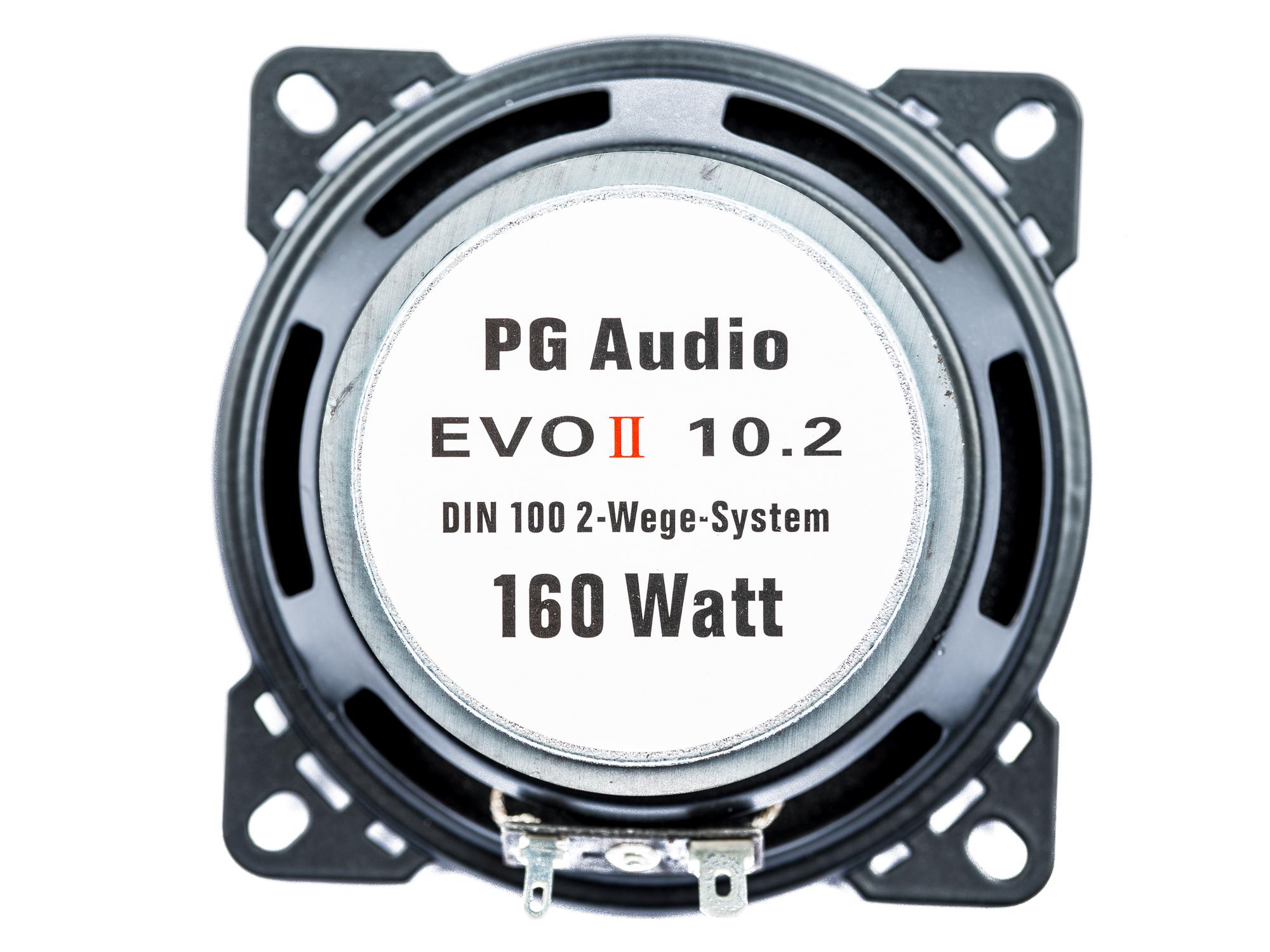 PG Audio EVO II 10.2, 10 cm 2 Wege Coax Auto Lautsprecher Armaturenbrett, Neu-Ware – Bild 2