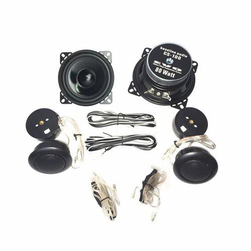 1 Paar 100 mm 2-Wege Compo System 80 Watt max., NEU 001
