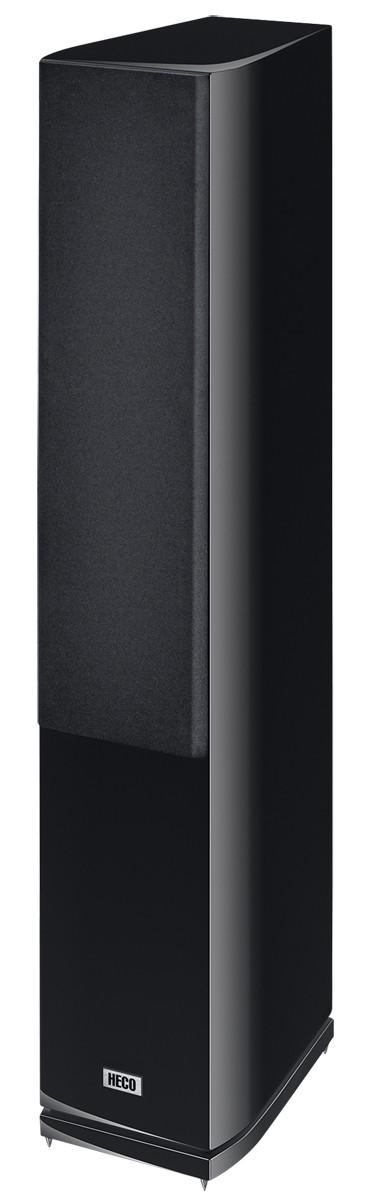 Heco Celan GT 602, High-End Standlautsprecher -Slim Fit-, 3-Wege Bassreflex, 1 Stück Neu, *schwarz* – Bild 1