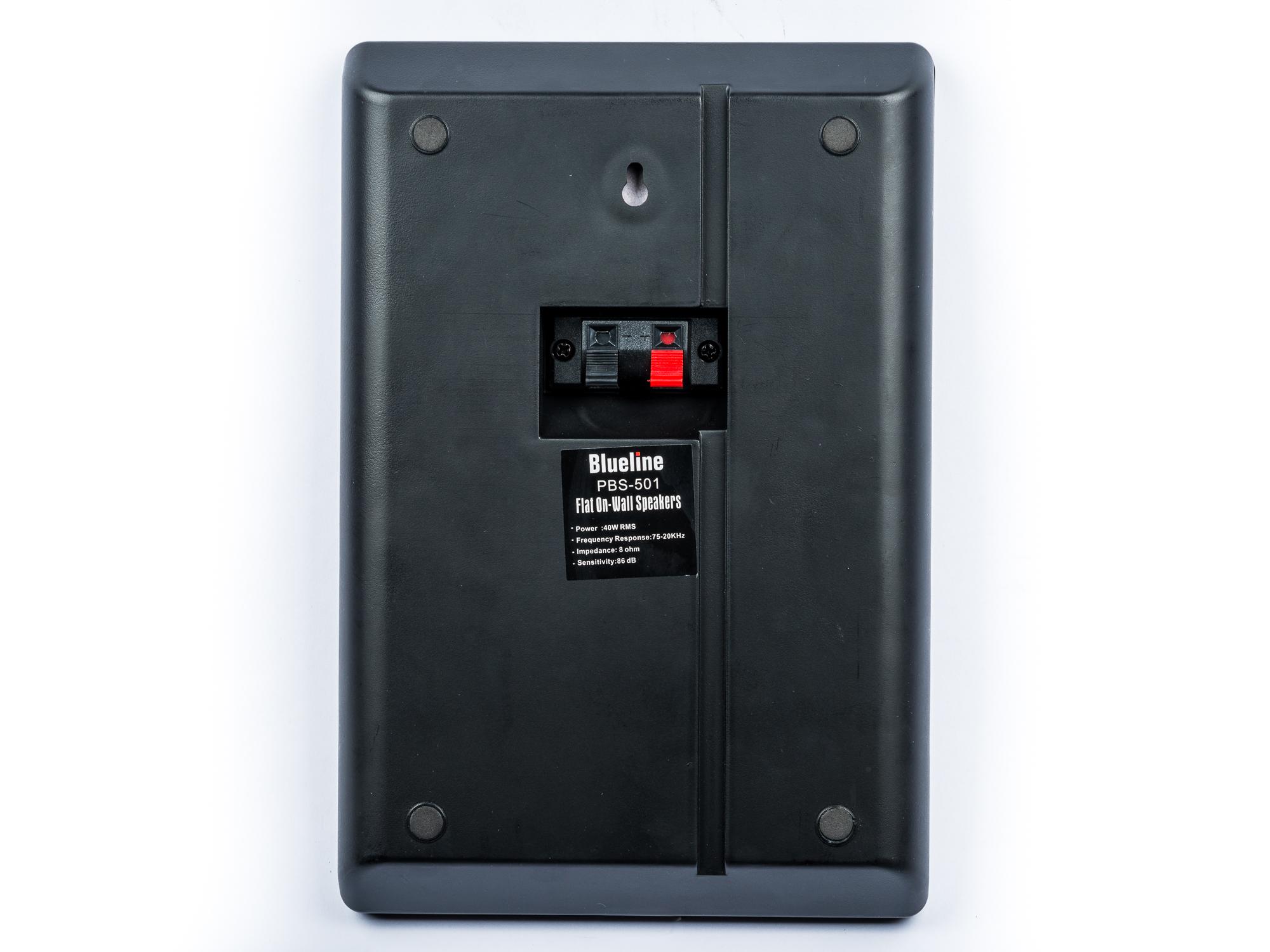 Blueline Flachlautsprecher für Dolby Atmos 2 Wege, 40 Watt Paar schwarz – Bild 3