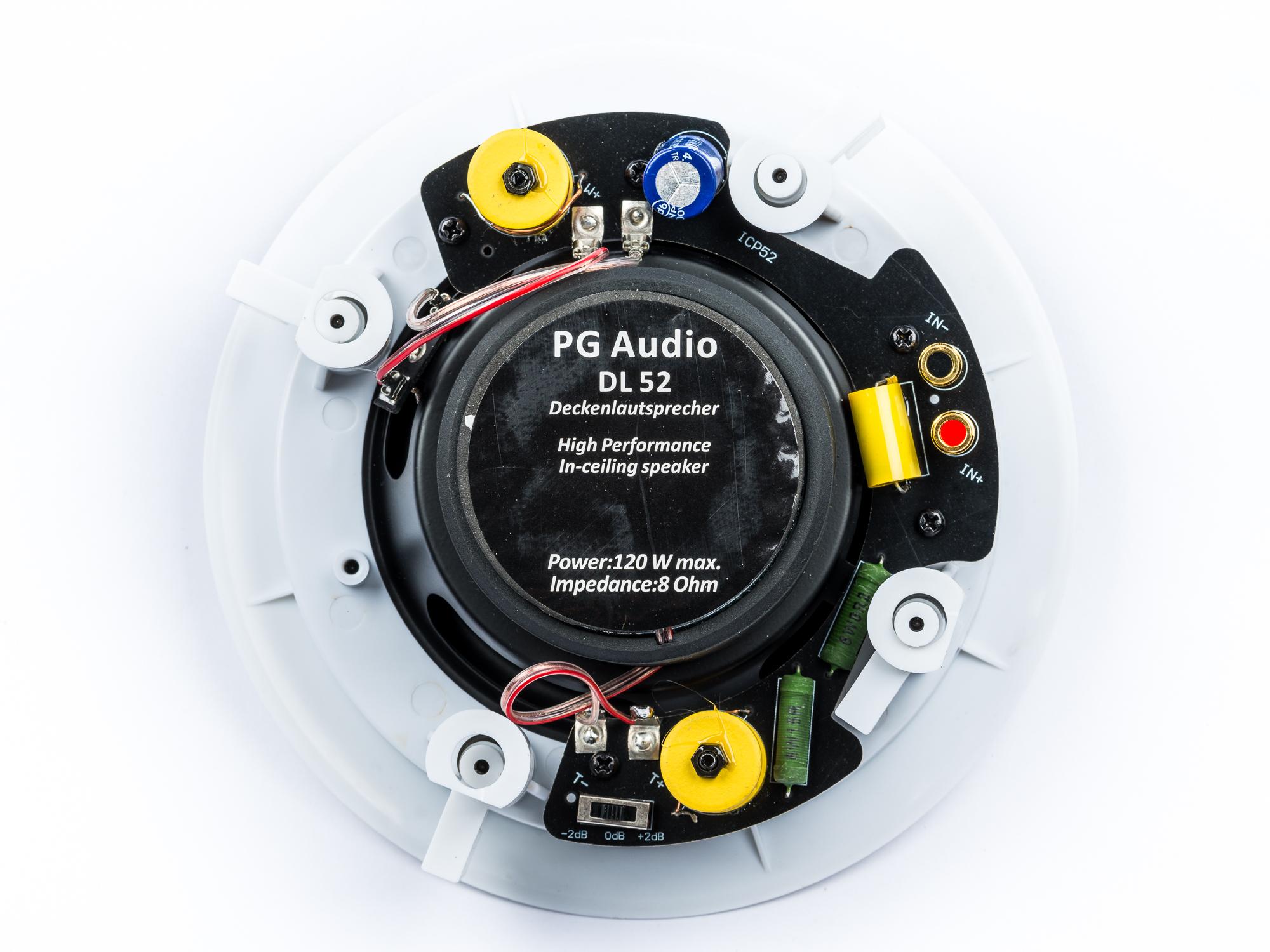 PG Audio DL 52, 2 Wege Decken-Einbaulautsprecher, 60/120 Watt max.weiß, Neu-Ware – Bild 2