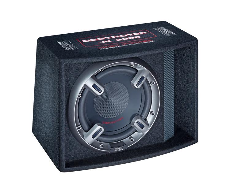 Mac Audio  Destroyer JK 3000, Bassreflex-Subwoofer mit 300 mm Basstreiber,Farbe: schwarz, 1 Stück Neu-Ware