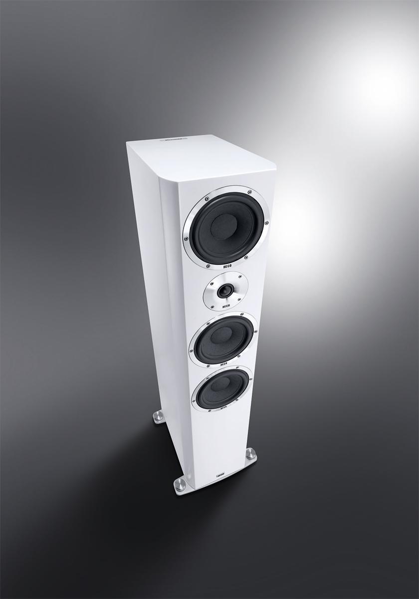 Heco Elementa 700 3-Wege Bassreflex Lautsprecher weiß/seidenmatt, 1 Stück 001