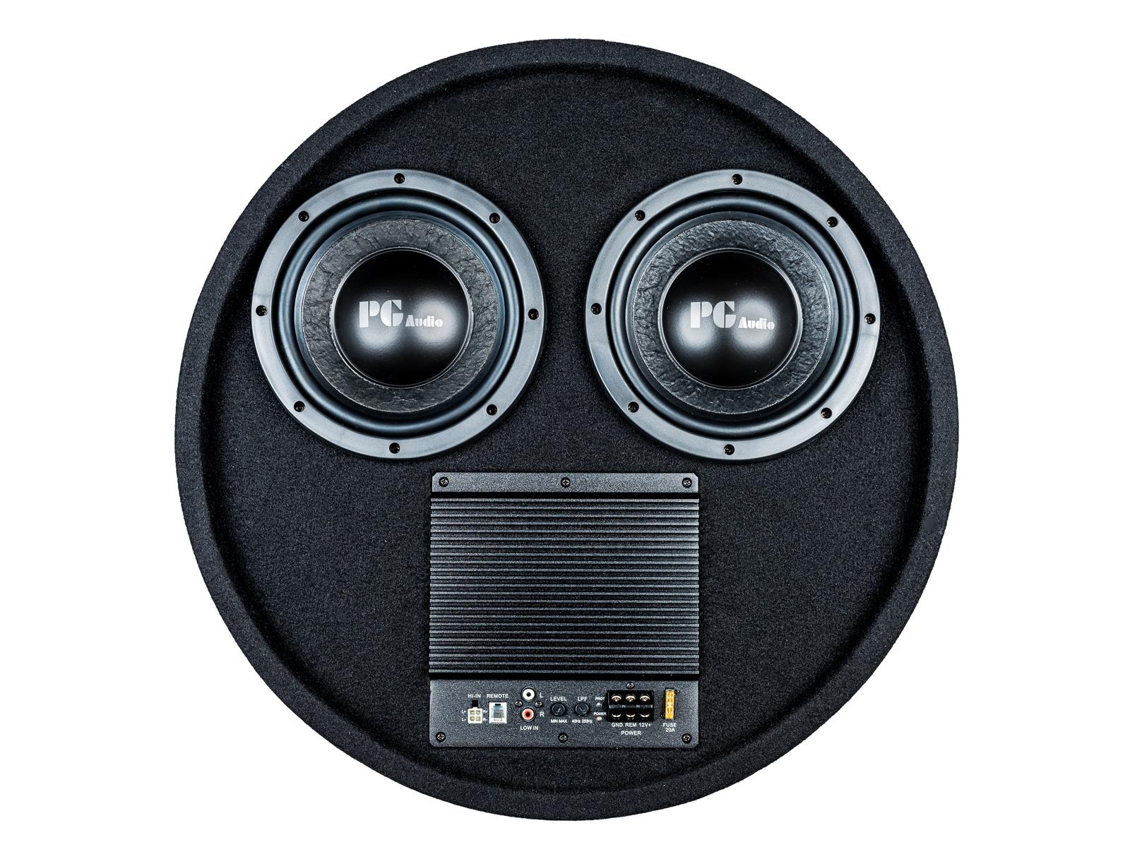 PG Audio aktiver Reserverad Subwoofer 2 x 8 Zoll ,1 Stück Neu 001
