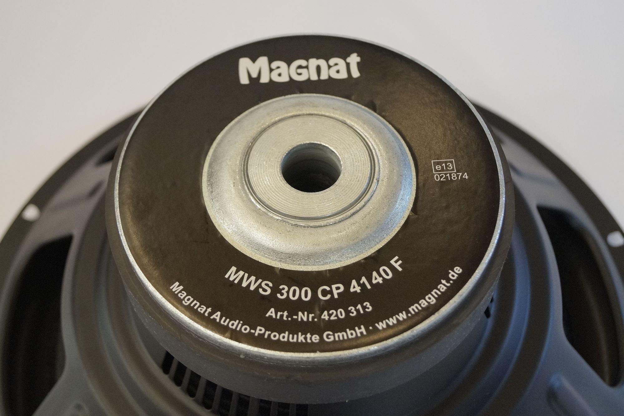 "12"" 30 cm Subwoofer Magnat Charger 130 MWS 300 CP 4140 F, Basslautsprecher/Tieftöner – Bild 3"