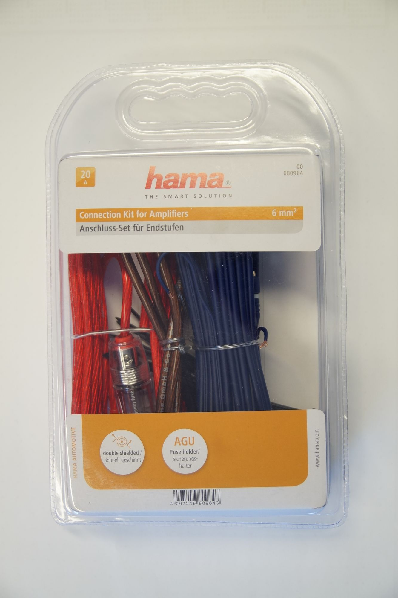 Car Hifi-Auto Kabel-Set, Hama AMP KIT 6 mm2 001