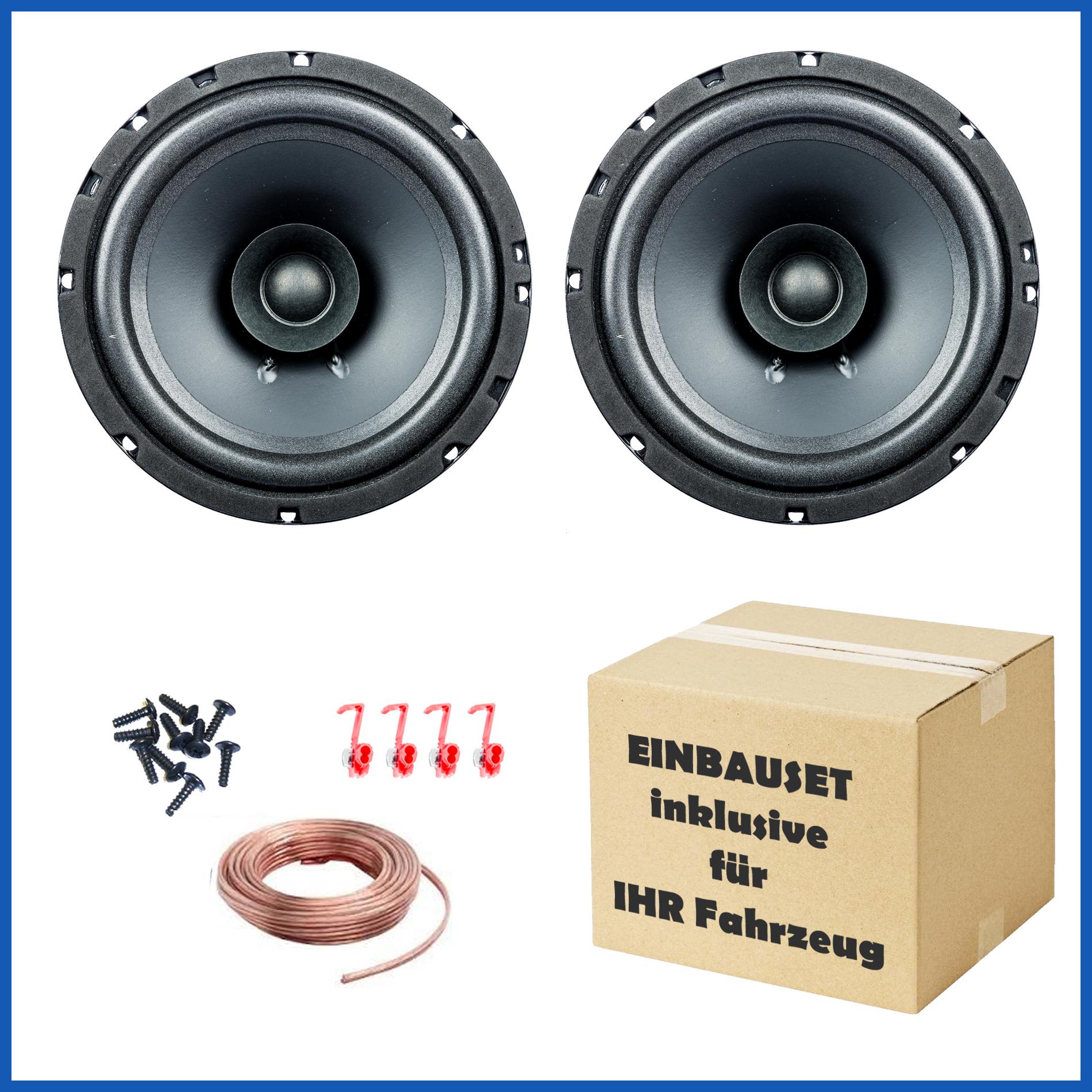 1 Paar PG Audio EVO I 16.2, 16 cm Dual Cone Lautsprecher für Citröen,Peugeot,Renault,Jaguar & Dodge
