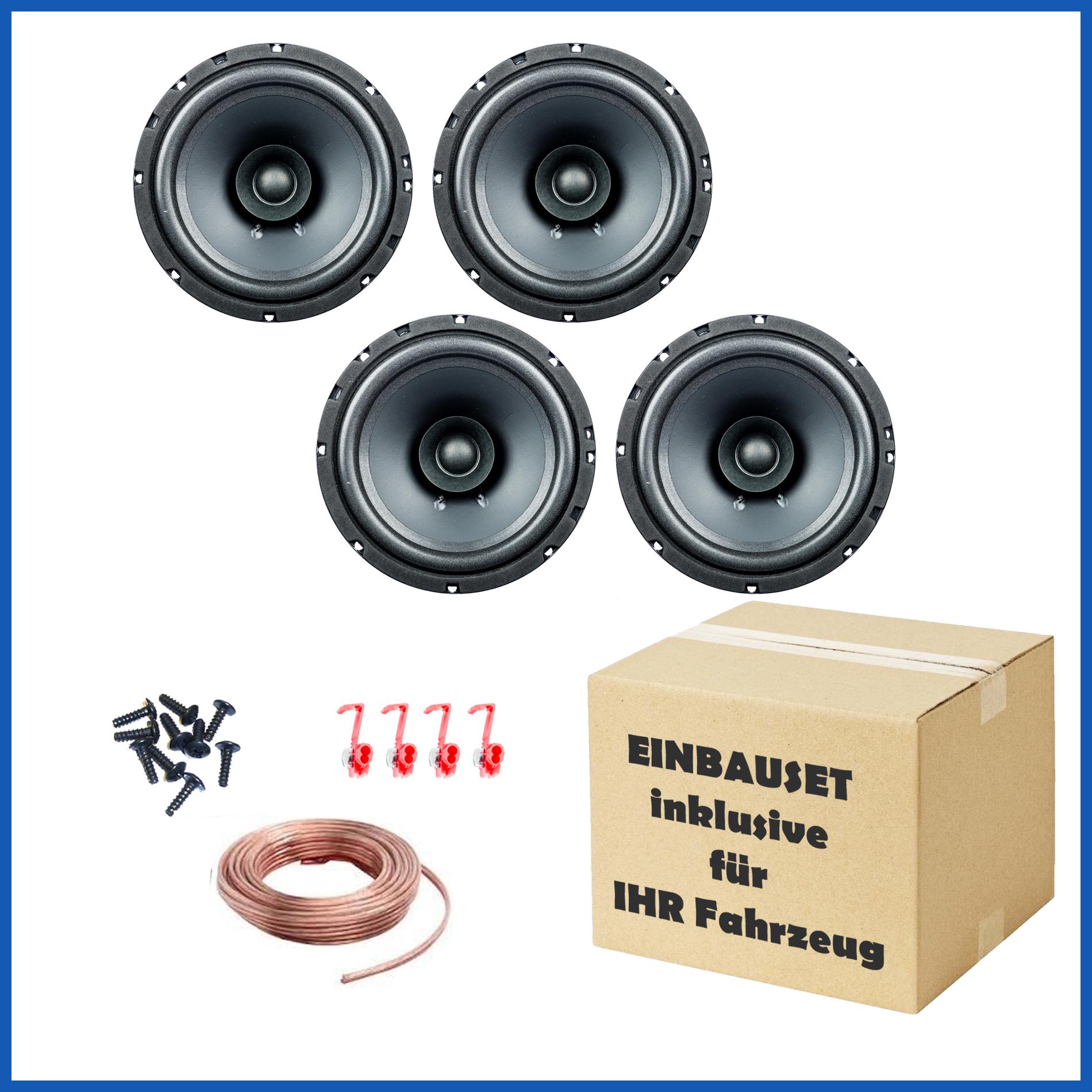 [Paket] 2 Paar PG Audio EVO I 16.2, 16 cm Dual Cone Lautsprecher für mehrere Fahrzeugmodelle