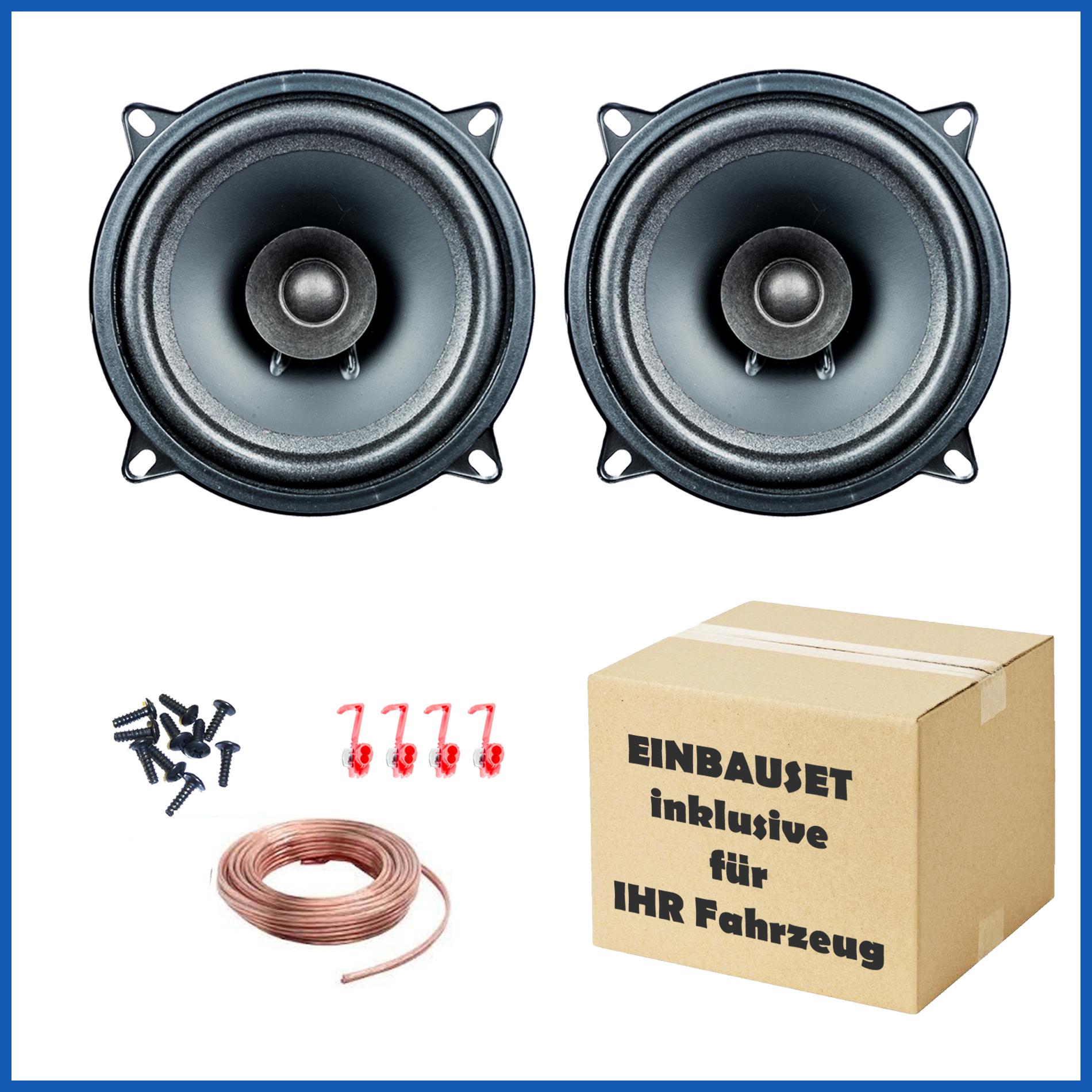 1 Paar PG Audio EVO I 13.2, 13 cm Dual Cone Lautsprecher passend für Chevrolet, Daihatsu, Honda, Mazda & Nissan 001