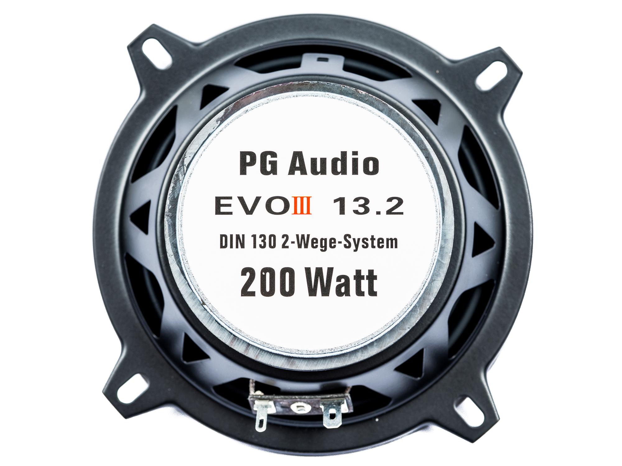 PG Audio EVO III 13.2, 13 cm Coaxial Lautsprecher passend für Chrysler,Citroen,Dacia,Ford,Opel,Peugeot & Renault – Bild 2