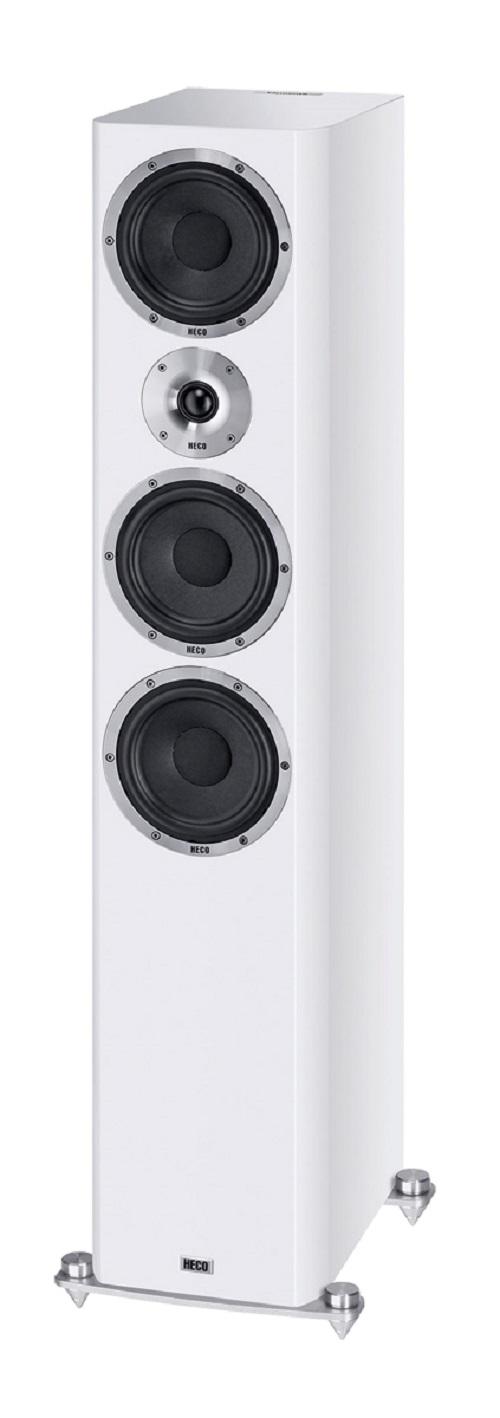 B Ware Heco Elementa 700 3-Wege Bassreflex Lautsprecher weiß/seidenmatt, 1 Stück – Bild 3