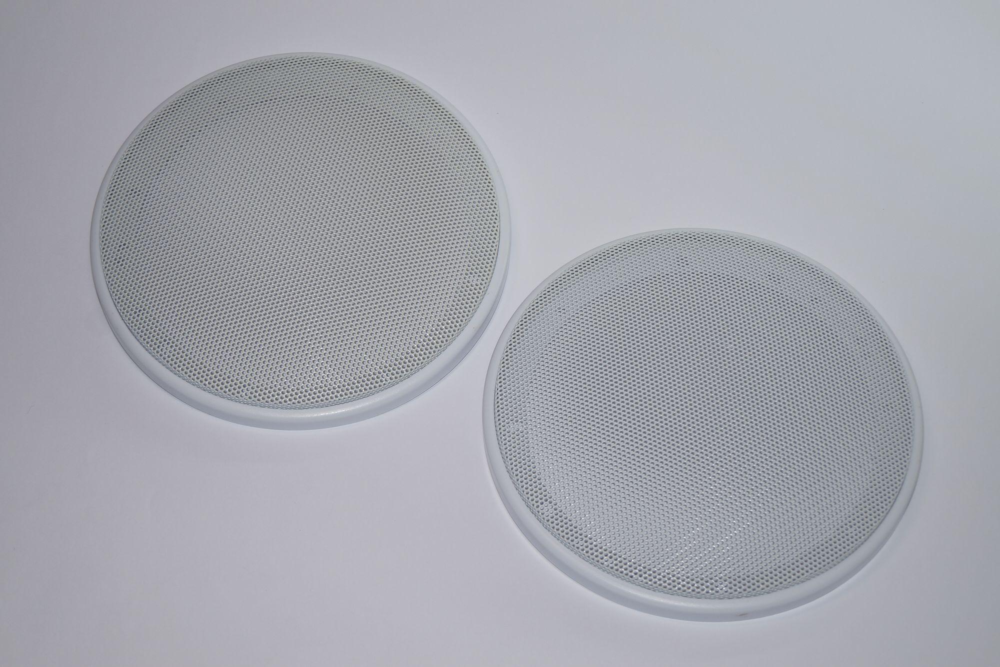 1 Paar DIN-160 Lautsprecher-Universalabdeckung Abdeckung Gitter weiß  – Bild 2