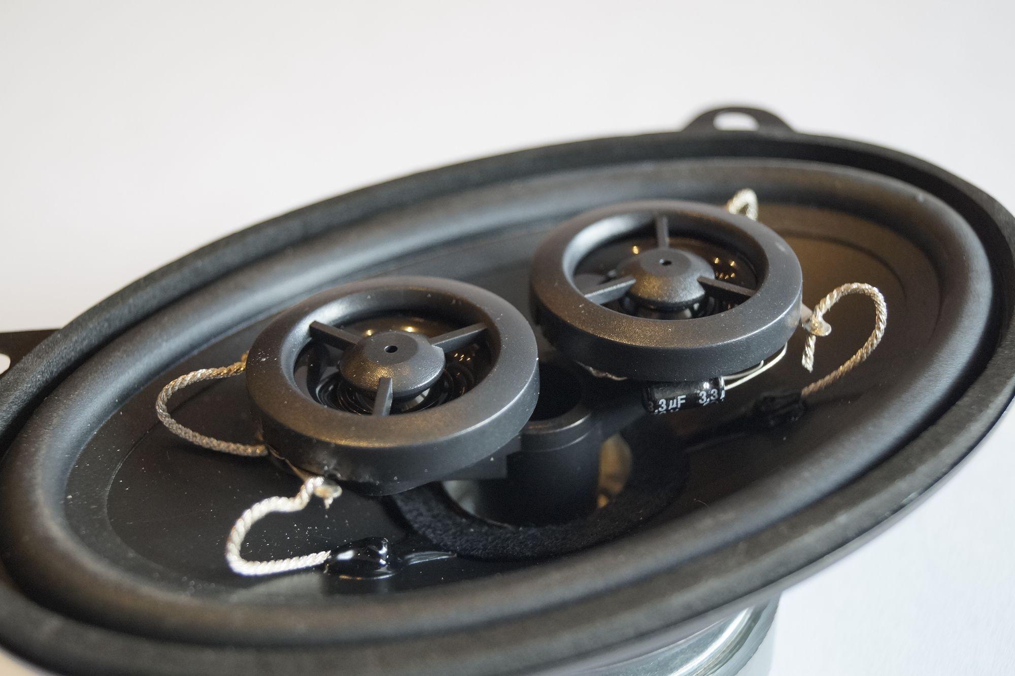 PG Audio 9x15 cm 2 Wege Stereo Koax Lautsprecher 4x6 Zoll für  Oldtimer Youngtimer – Bild 2