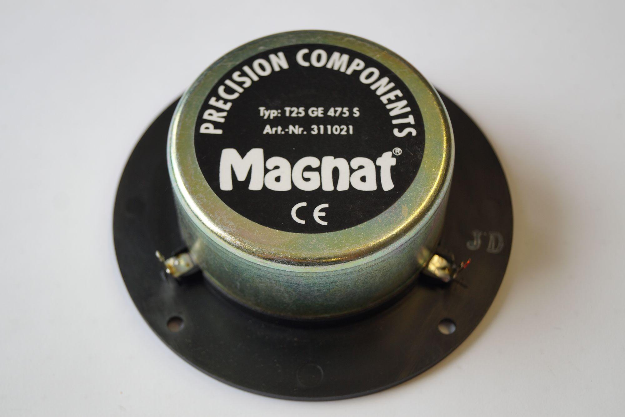 1 Stück Magnat Precision Components Hochtöner T25 GE 475 S Neuware – Bild 2