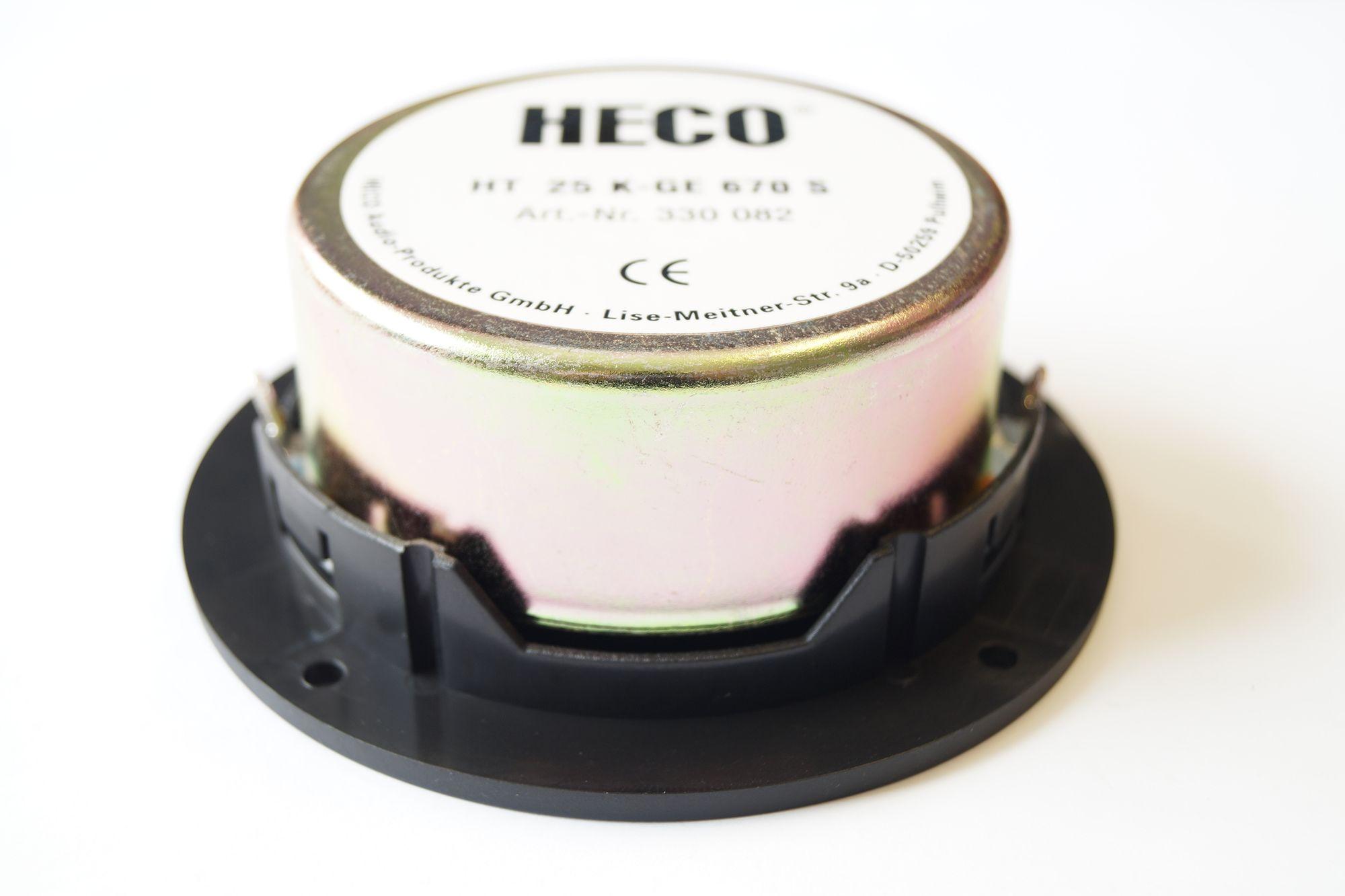 1 Paar 25 mm Gewebe Hochton-Kalotte Heco HT25K-GE670 S 75 Watt max., Serviceware – Bild 3