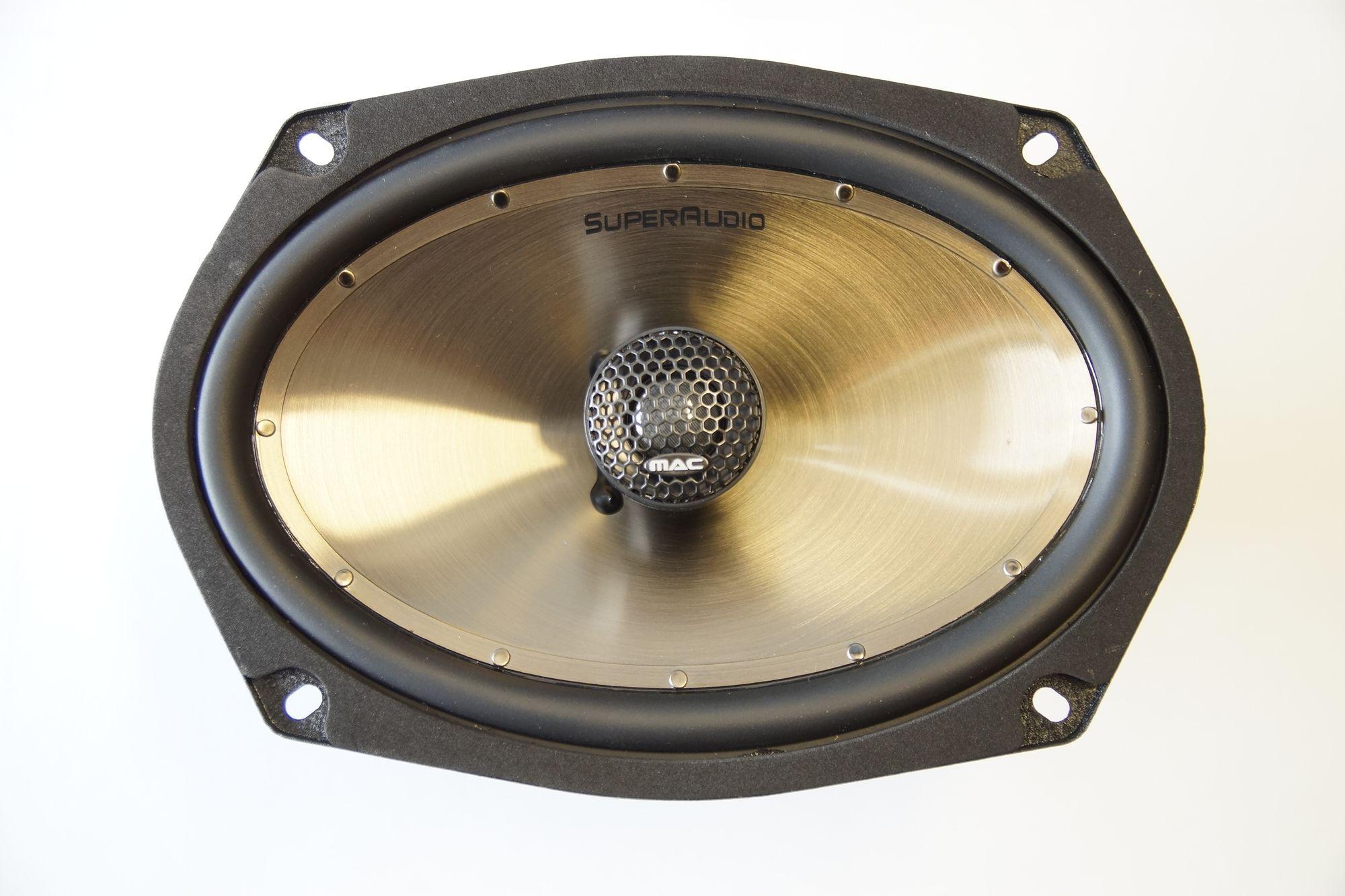1 Paar Mac Audio Super Audio 69.2 Auto Lautsprecher 6x9 , 200 Watt max., Serviceware 001