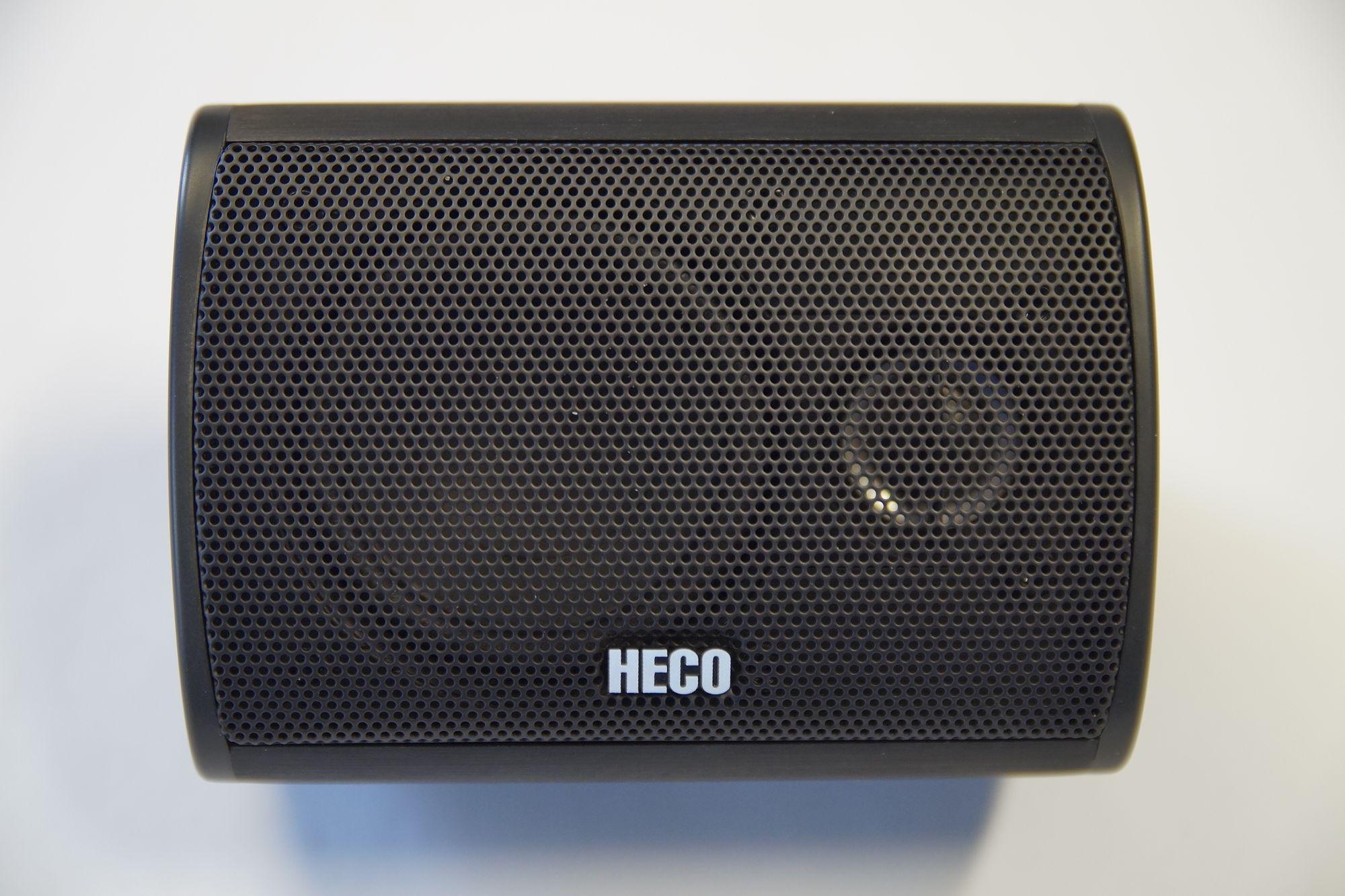 1 Stück Heco Vogue 510 Aluminium Center Lautsprecher schwarz Neu