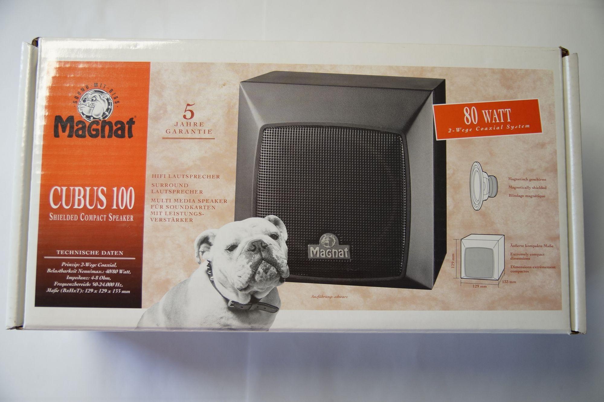 1 Paar Magnat 100 Compact Lautsprecher schwarz 2 Stück Neu – Bild 1